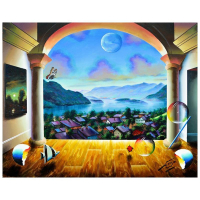 """Ferjo Signed """"Austrian Dream"""" 24x30 Original Painting on Canvas at PristineAuction.com"""