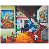 "Ferjo Signed ""Mystical Music"" 22x28 Original Painting on Canvas at PristineAuction.com"