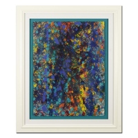 "Wyland Signed ""Pollack Coral Reef"" 33x40 Custom Framed Original Watercolor Painting at PristineAuction.com"