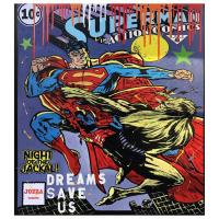 "Jozza Signed ""Superman"" 36x40 Original Mixed Media on Canvas at PristineAuction.com"