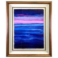 "Wyland Signed ""Cool Seas"" 43x35 Custom Framed Original Painting at PristineAuction.com"