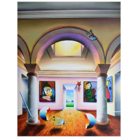 """Ferjo Signed """"Picturesque View of Paradise"""" 40x30 Original Painting on Canvas at PristineAuction.com"""