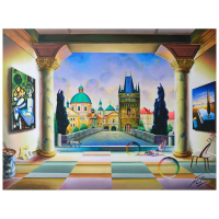 "Ferjo Signed ""Praga Afternoon"" 30x40 Original Painting on Canvas at PristineAuction.com"