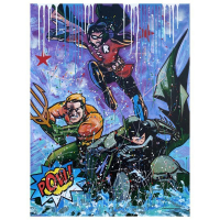 "Jozza Signed ""Batman"" 40x48 Original Mixed Media on Canvas at PristineAuction.com"