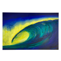 "Wyland Signed ""Untitled"" 24x36 Original Painting on Board at PristineAuction.com"