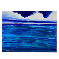 "Wyland Signed ""Blue Hawaii"" 30x40 Original Painting on Canvas at PristineAuction.com"