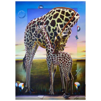 "Ferjo Signed ""A Mother's Kiss"" 70x50 Original Painting on Canvas at PristineAuction.com"