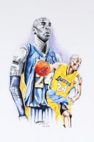 Kobe Bryant - Lakers - Brian Barton 12x18 Signed Limited Edition Lithograph #/250 (PA COA) at PristineAuction.com