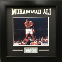 "Muhammad Ali Signed 17x17 Custom Framed Cut Display Inscribed ""2-9-88"" (JSA LOA) at PristineAuction.com"