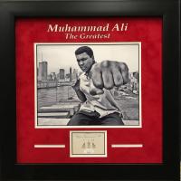 "Muhammad Ali Signed 17x17 Custom Framed Cut Display Inscribed ""8-6-89"" (JSA LOA) at PristineAuction.com"