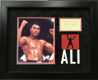"Muhammad Ali Signed 17x21 Custom Framed Cut Display Inscribed ""Thank you"" & ""3-10-88"" (JSA LOA) at PristineAuction.com"