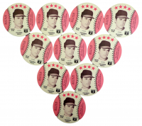 Lot of (10) 1976 Nolan Ryan Angels Pins at PristineAuction.com