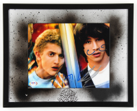 "Alex Winter & Keanu Reeves Signed ""Bill & Ted's Excellent Adventure"" 12x15 Custom Framed Photo Display (PSA COA) at PristineAuction.com"