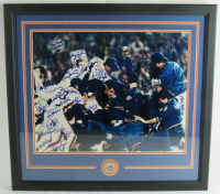 1986 Mets 16x20 Custom Framed Photo Display Team-Signed by (32) with Gary Carter, Dwight Gooden, Dave Magadan, Ray Knight, Terry Leach (PSA Hologram) at PristineAuction.com