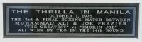 "Muhammad Ali & Joe Frazier ""Thrilla In Manilla"" 27x40 Custom Framed Cut Display (JSA LOA) at PristineAuction.com"