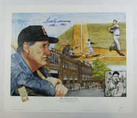"Ted Williams Signed Red Sox 22x26 LE Print by Lewis Watkins Inscribed ""1936-1960"" (JSA LOA) at PristineAuction.com"