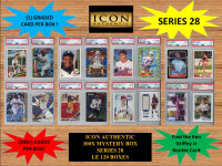 ICON AUTHENTIC 300X MYSTERY BOX SERIES 28 300+ Cards per Box at PristineAuction.com