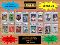 ICON AUTHENTIC 300X MYSTERY BOX SERIES 31 300+ Cards per Box at PristineAuction.com