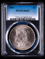 1898 Morgan Silver Dollar (PCGS MS63) at PristineAuction.com
