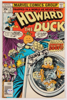 "Ed Gale Signed 1977 ""Howard The Duck"" Issue #21 Marvel Comic Book Inscribed ""Howard T. Duck"" (PSA Hologram) at PristineAuction.com"