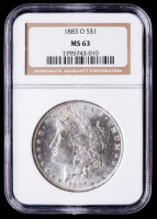 1883-O Morgan Silver Dollar (NGC MS63) at PristineAuction.com