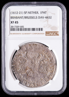 (1612-21) Spanish Netherlands Silver Patagon, Brabant / Brussels (NGC XF45) at PristineAuction.com