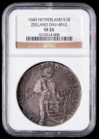 1660 Netherlands, Zeeland Silver Ducat (NGC VF25) at PristineAuction.com