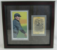 Cy Young Signed 15x16 Custom Framed Gold Hall of Fame Postcard Display (JSA LOA) at PristineAuction.com