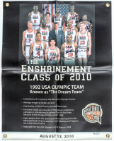 "1992 ""Dream Team"" 22x28 LE USA Olympic Team Banner Signed by (11) with Larry Bird, Magic Johnson, Scottie Pippen (PSA LOA & BHOF LOA) at PristineAuction.com"