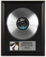 "Original Vintage Michael Jackson's ""Thriller"" 16x20 Custom Framed Record Display at PristineAuction.com"