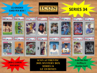 ICON AUTHENTIC 300X MYSTERY BOX SERIES 34 300+ Cards per Box at PristineAuction.com