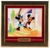 "Walt Disney's ""Mickey's Surprise Party"" 15.5x16.75 Custom Framed Animation Sericel Display at PristineAuction.com"