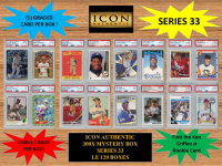 ICON AUTHENTIC 300X MYSTERY BOX SERIES 33 300+ Cards per Box at PristineAuction.com