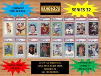 ICON AUTHENTIC 300X MYSTERY BOX SERIES 32 300+ Cards per Box at PristineAuction.com