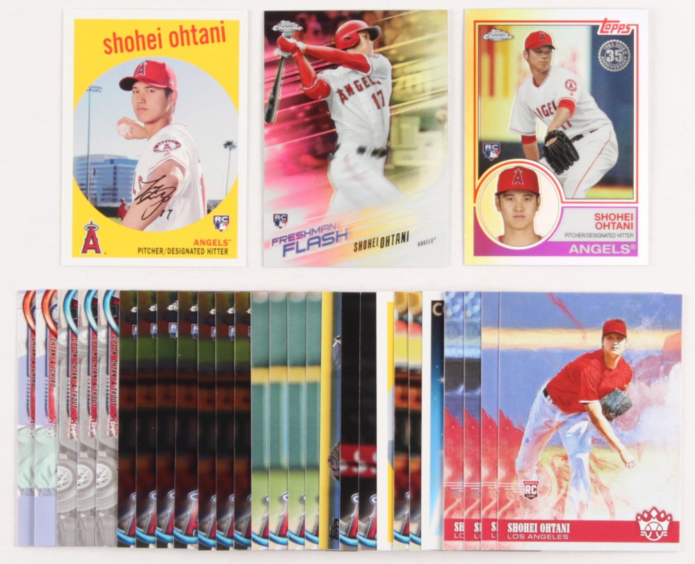 Lot of (30) Shohei Ohtani Baseball Rookie Cards at PristineAuction.com