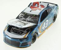 "Darrell ""Bubba"" Wallace Jr. Signed LE Color Chrome #43 Food Lion 2018 Camaro 1:24 Scale Die Cast Car (RCCA COA & JSA COA) at PristineAuction.com"
