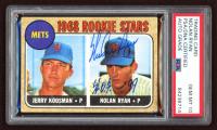 Nolan Ryan Signed 1968 Topps #177 Rookie Stars / Jerry Koosman RC / Nolan Ryan RC (PSA 10) at PristineAuction.com