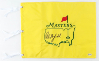 Phil Mickelson Signed 2018 The Masters Golf Pin Flag (Beckett COA) at PristineAuction.com