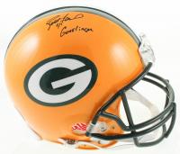 """Brett Favre & Keith McKenzie Signed Packers Full-Size Authentic On-Field Helmet Inscribed """"Gunslinger"""" (Beckett COA & Radtke Hologram) at PristineAuction.com"""