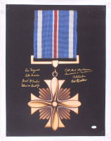 """""""Distinguished Flying Cross Medal"""" 20x24 Photo On Canvas Signed by (8) with Dan Fedyrinch, Richard E. Cole, Arthur Fiedler, Bill Davis (JSA COA) at PristineAuction.com"""