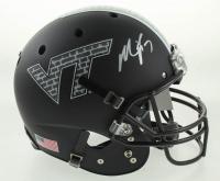 Michael Vick Signed Virginia Tech Hokies Custom Matte Black Full-Size Helmet (JSA COA) at PristineAuction.com