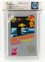 "1987 ""Metroid"" Nintendo SNES Video Game (WATA 7.0) at PristineAuction.com"