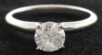 14kt White Gold & Diamond Solitare Engagement Ring at PristineAuction.com