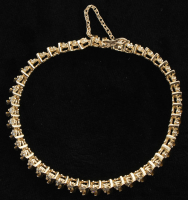 14kt Yellow Gold & Diamond Line Bracelet at PristineAuction.com