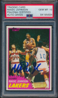 Magic Johnson Signed 1981-82 Topps #21 (PSA Encapsulated) at PristineAuction.com