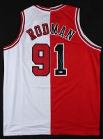 Dennis Rodman Signed Split Jersey (Beckett COA) at PristineAuction.com