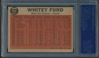 Whitey Ford Signed 1962 Topps #315 In Action (PSA Encapsulated) at PristineAuction.com