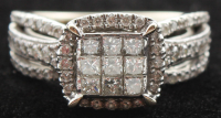 14kt White Gold & Diamond Fashion Ring at PristineAuction.com