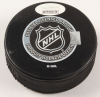 "Bobby Hull Signed Blackhawks Logo Hockey Puck Inscribed ""The Golden Jet"" (JSA COA) at PristineAuction.com"