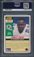 Emmitt Smith Signed 1990 Score Supplemental #101T RC (PSA 9) at PristineAuction.com